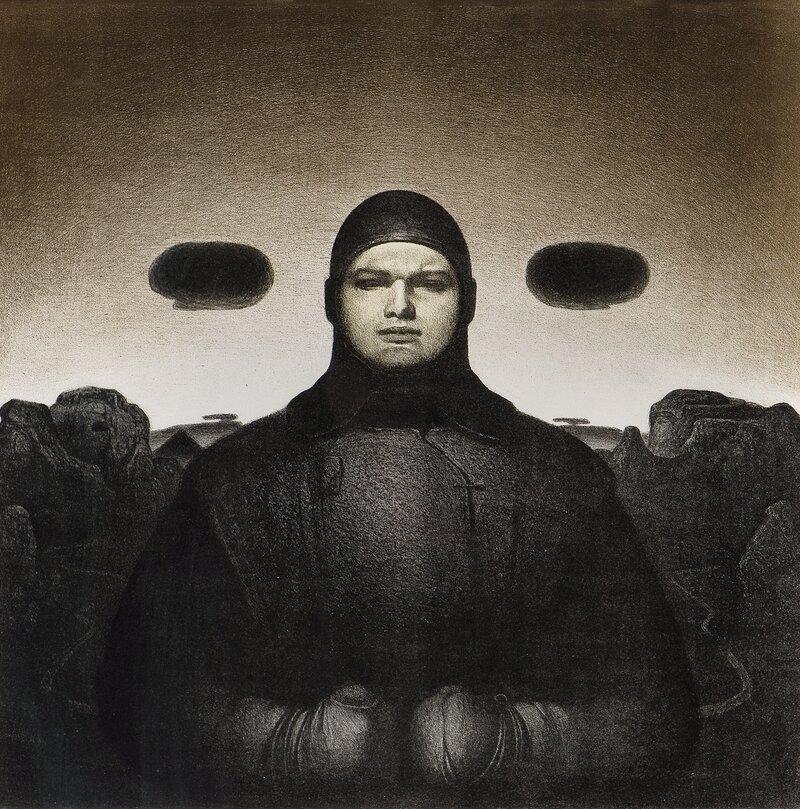 Mann under åpen himmel