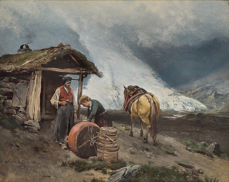 Seterdrift i Briksdalen 1883