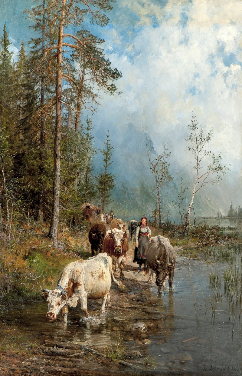 Cows by a Wading Place 1887
