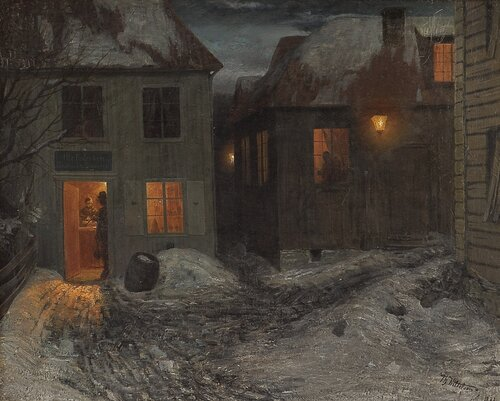 Interior from a small town, Kragerø