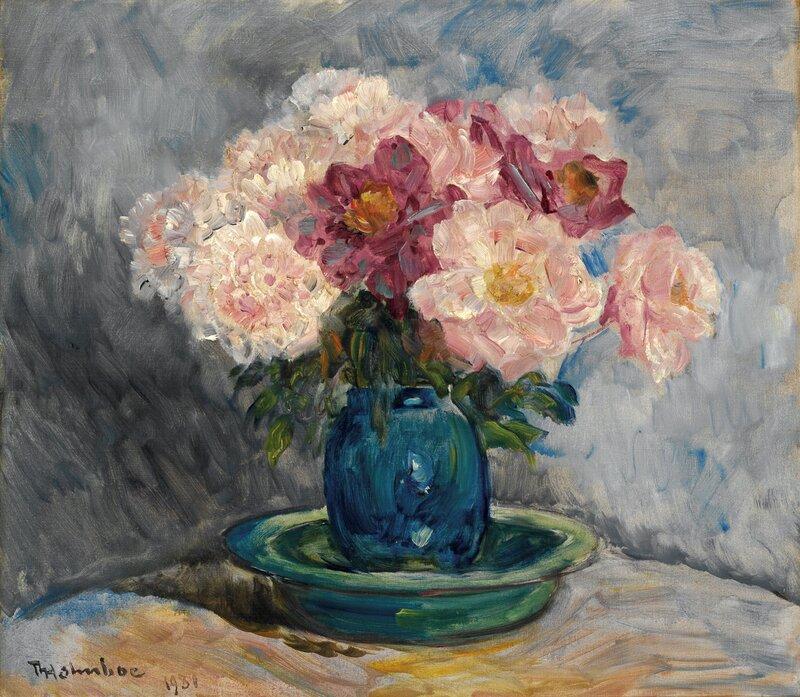 Peoner i vase 1931