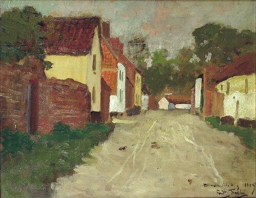 Fransk landsbygate 1905
