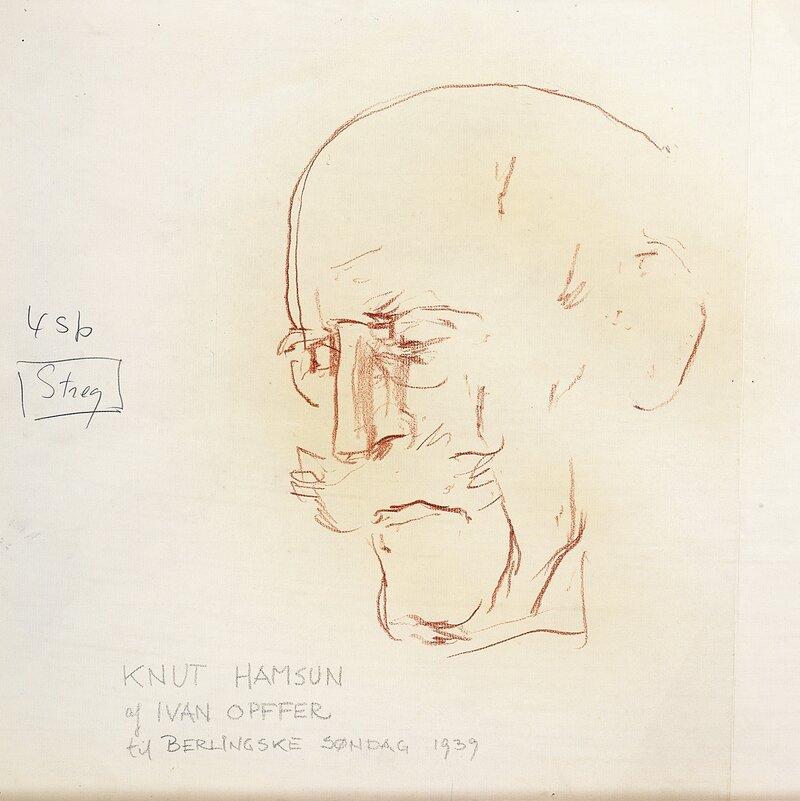 Portrett av Knut Hamsun 1939