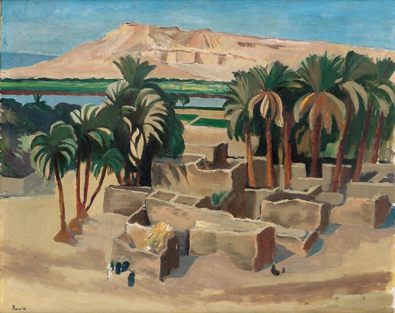 Landsby ved Karnak