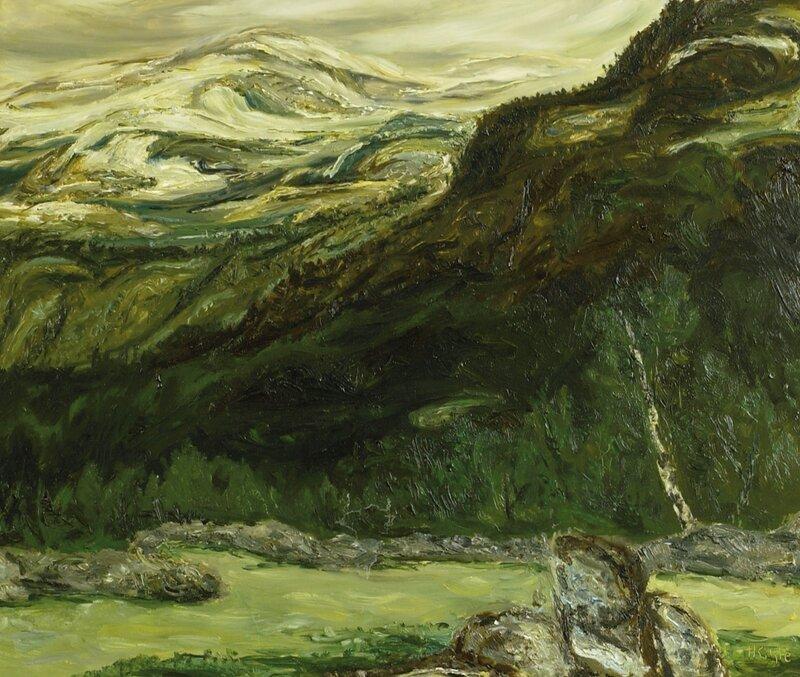 Nysnø over Ormeggene, Vinje