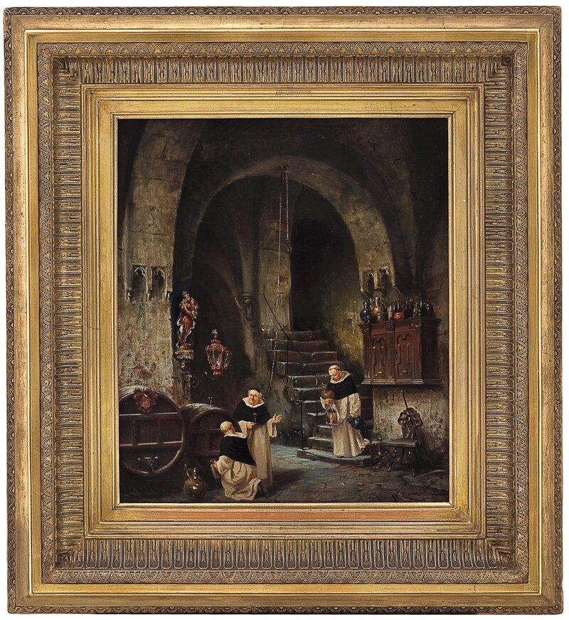 Munker i vinkjeller 1872