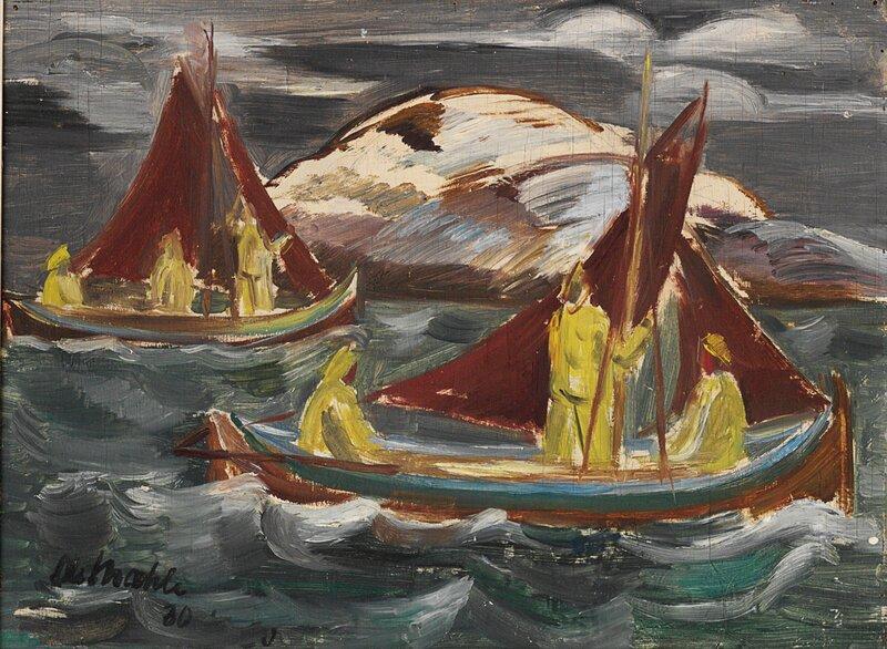 Nordlandsskjekter i rom sjø 1930