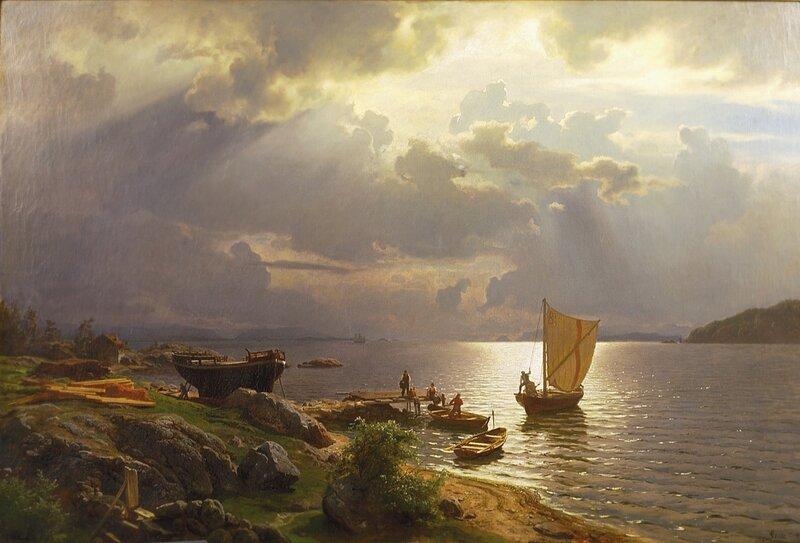 Sommerdag på Christianiafjorden 1868