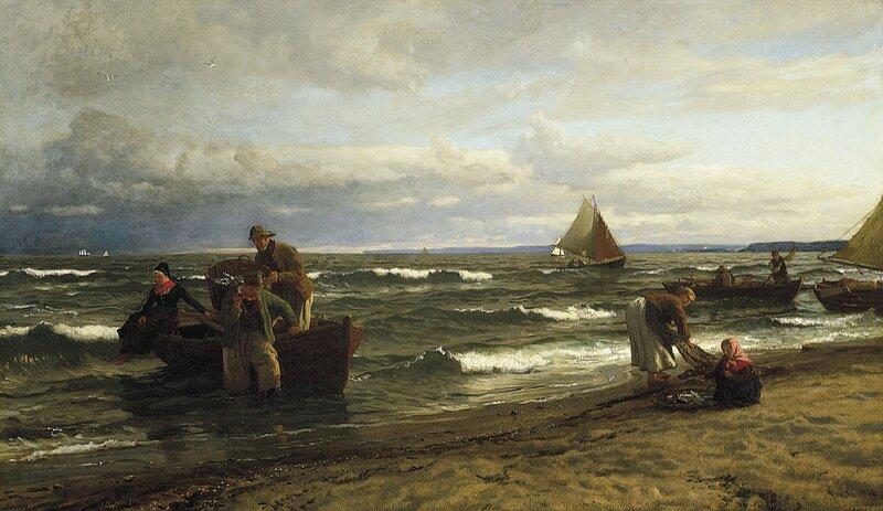 På kysten av Rügen 1886