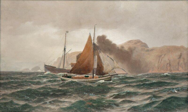 På kysten 1890