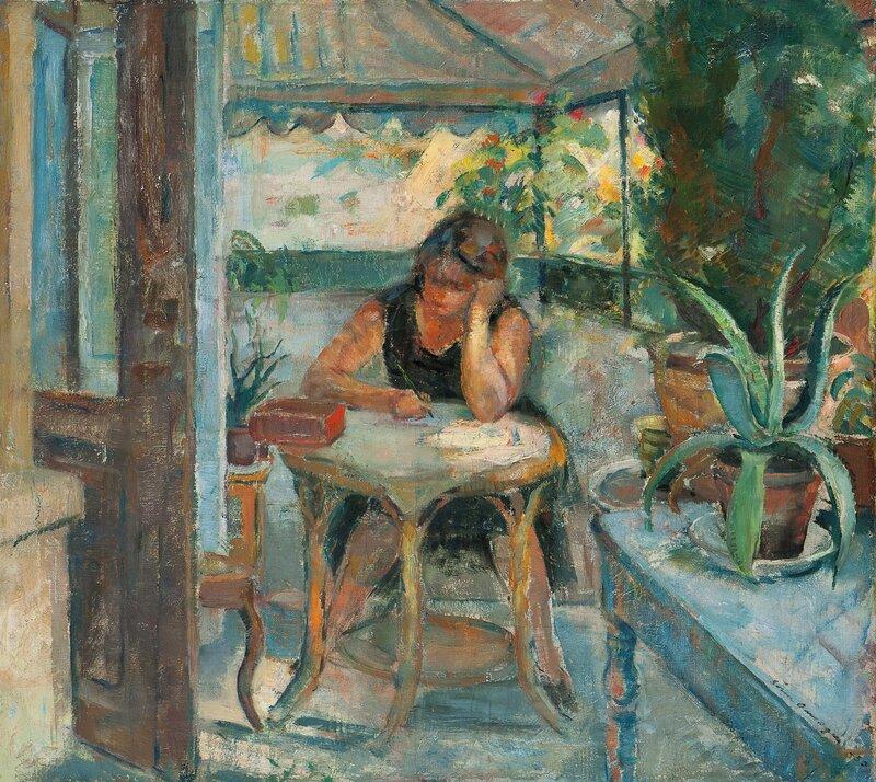 Kvinne i interiør 1930