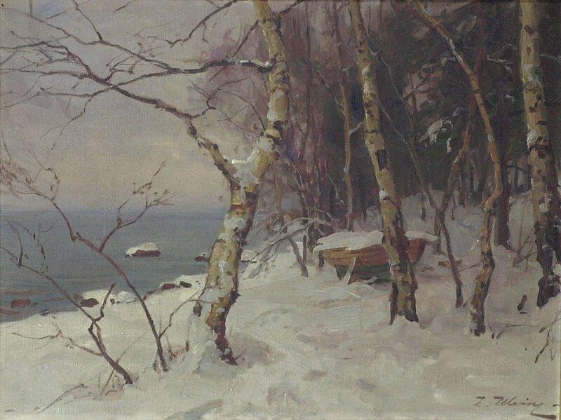 Robåt i vinteropplag