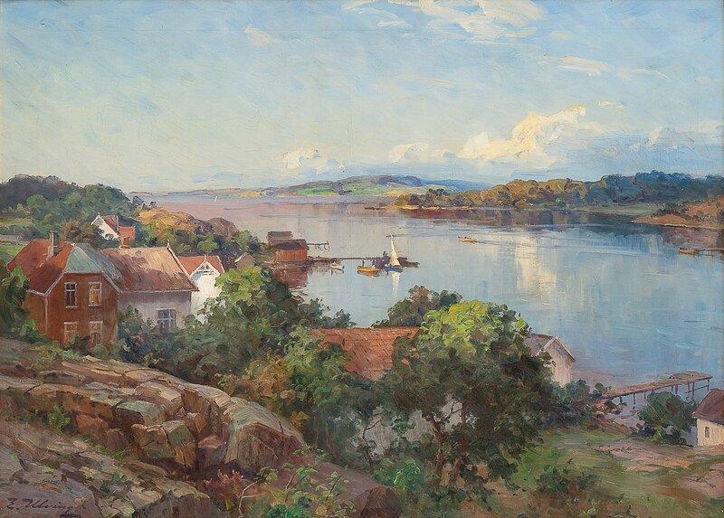 Fra Årøysund ved Nøtterøy