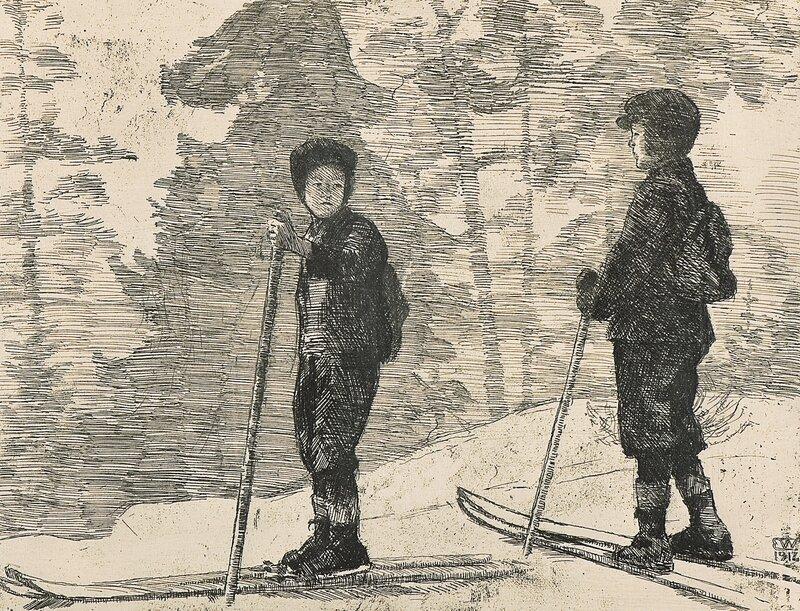 To skiløpere 1912