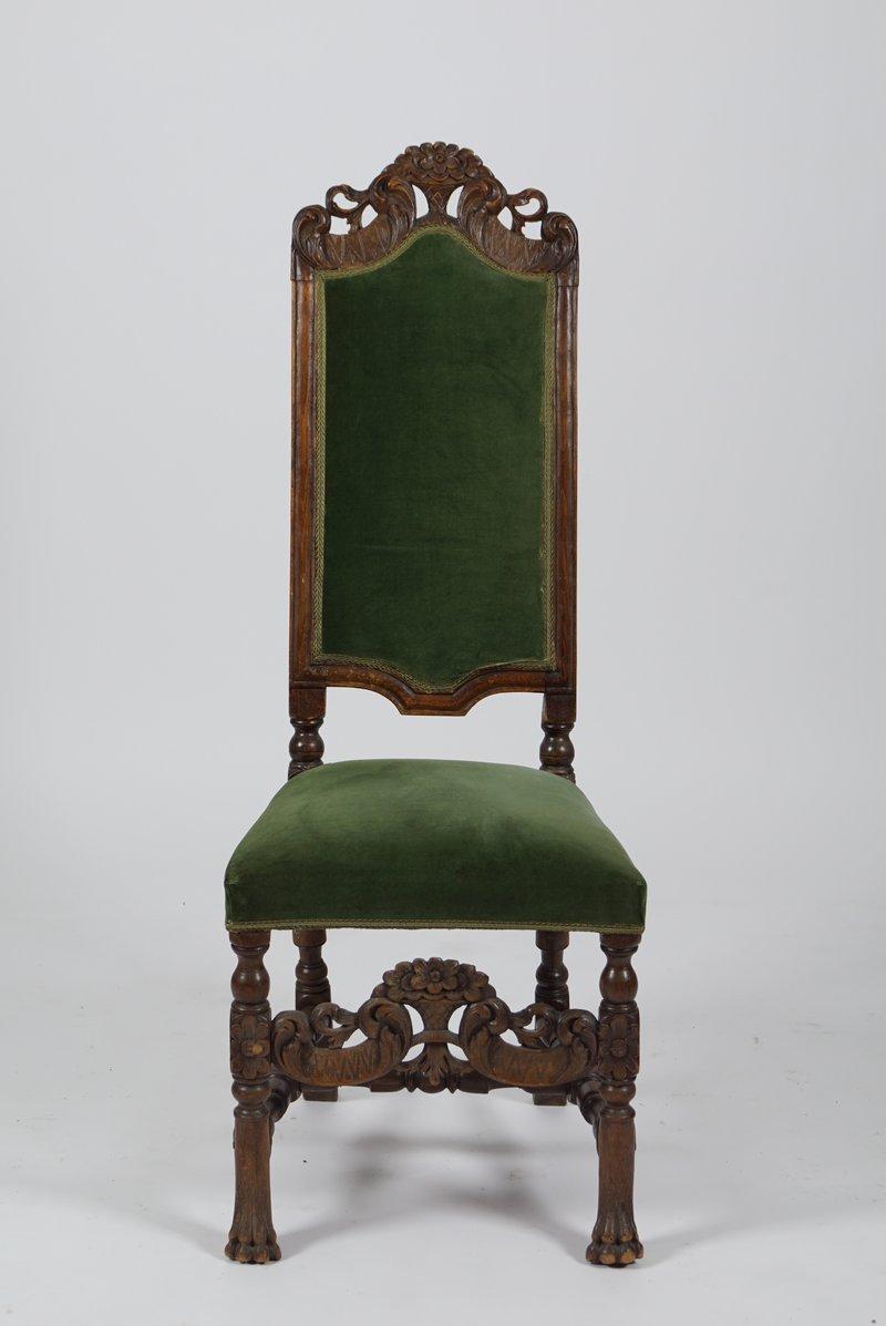 Høyrygget stol