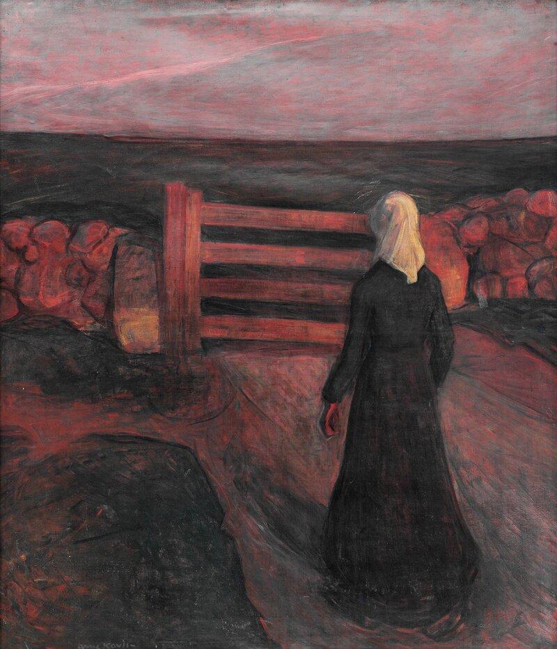 Kvinne ved grind