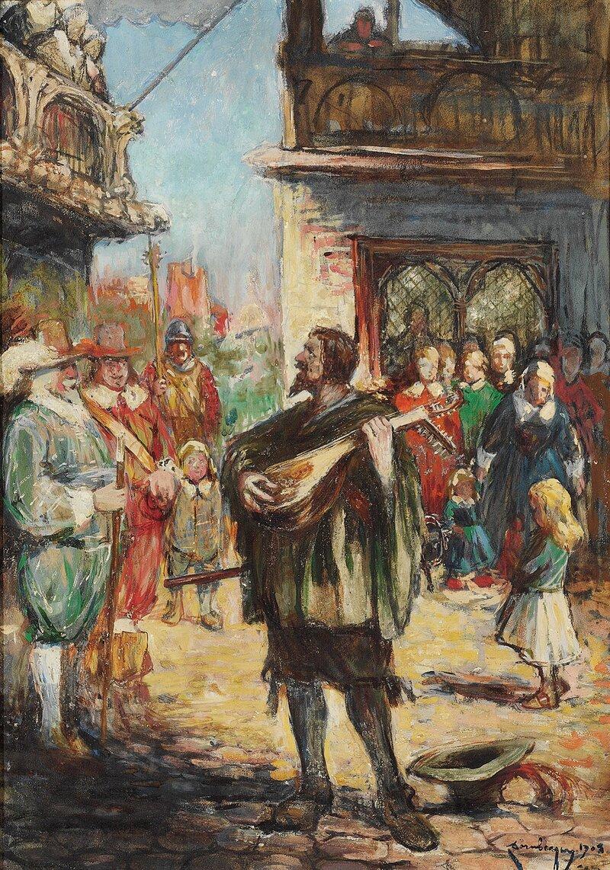 Luttspillende gatemusikant 1903