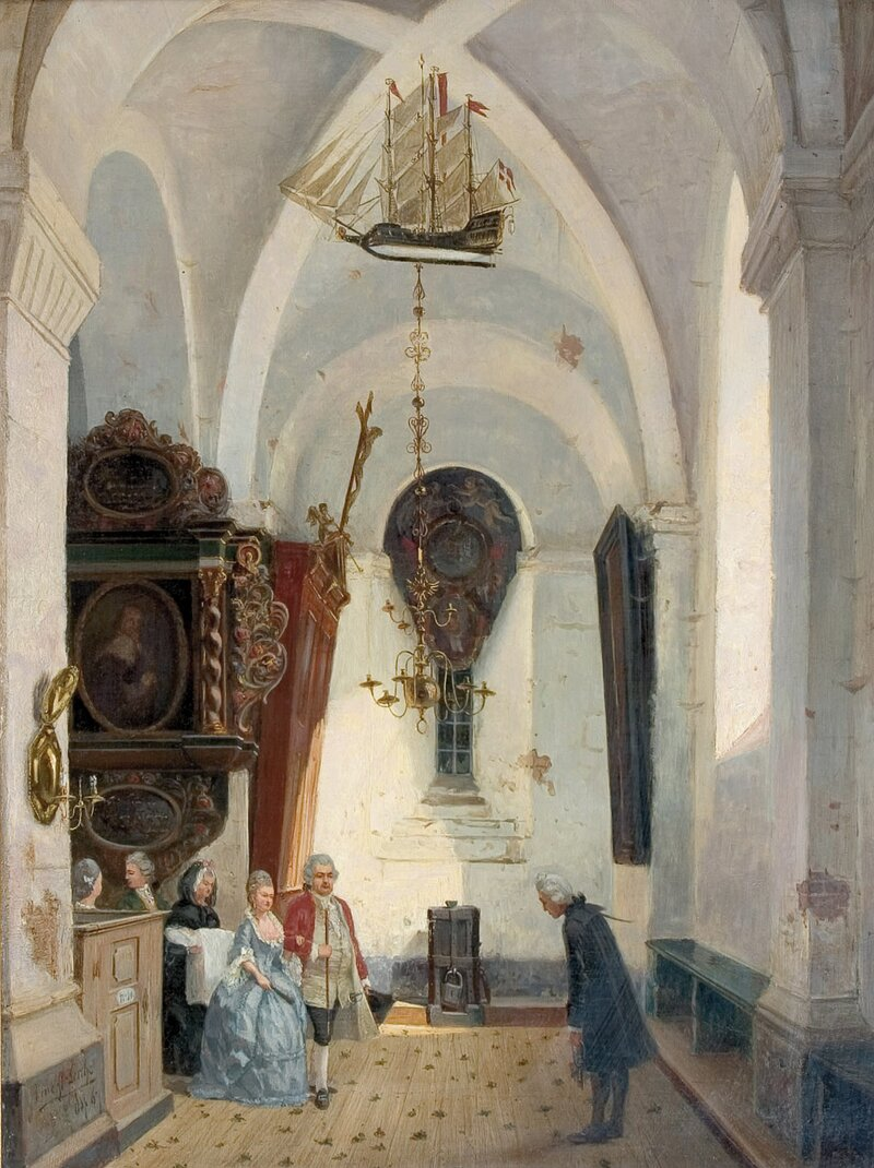 Kirkeinteriør 1867