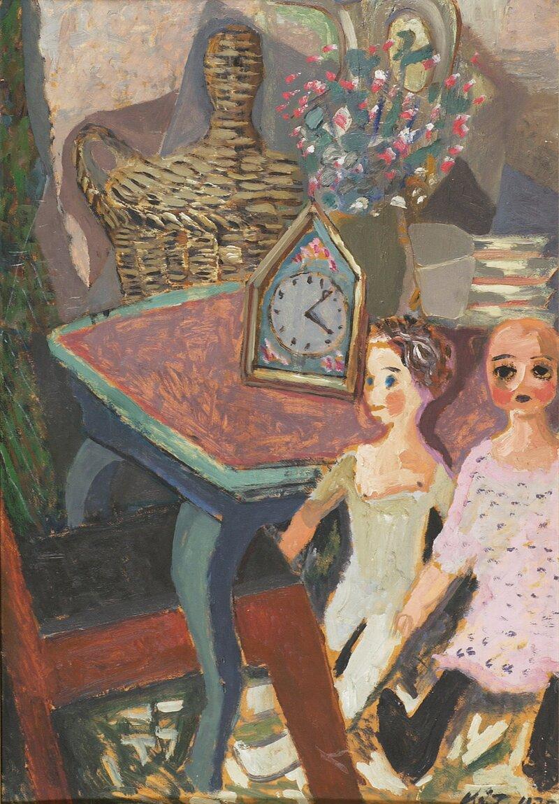 Oppstilling med dukker 1930