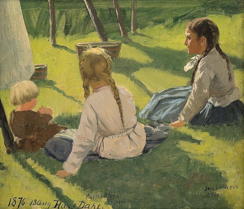 Studie av barn 1876
