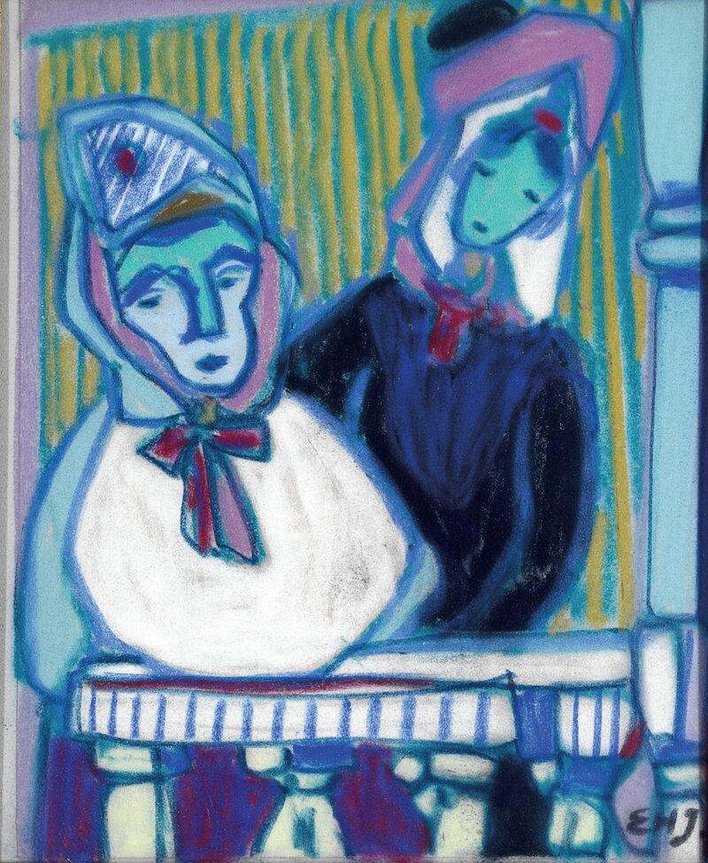 To kvinner på altan