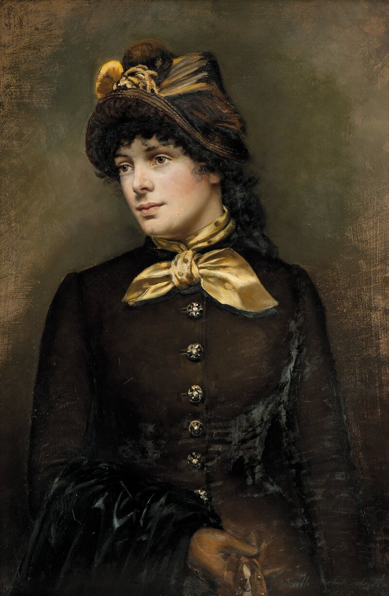 Kvinneportrett 1885