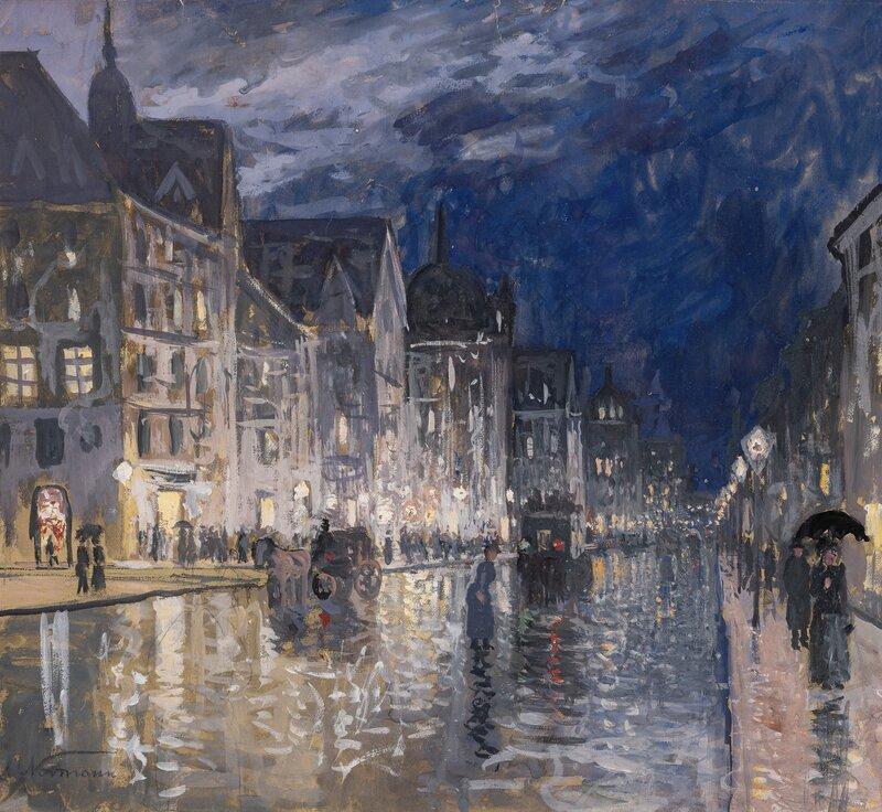 Friedrichstrasse in the Rain