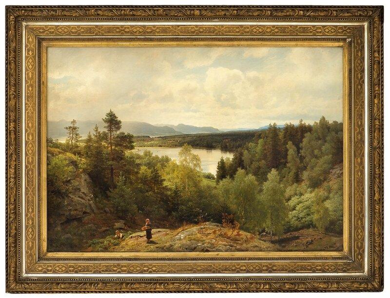 Åsterudtjernet, utsikt over Ringerike 1878