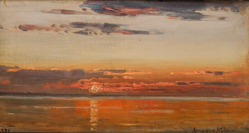 Solnedgang, Hvaler 1896