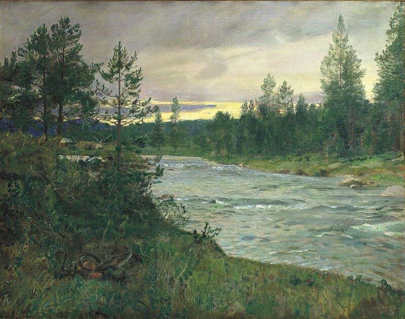 Fra Sevilosen ved Savallen 1907