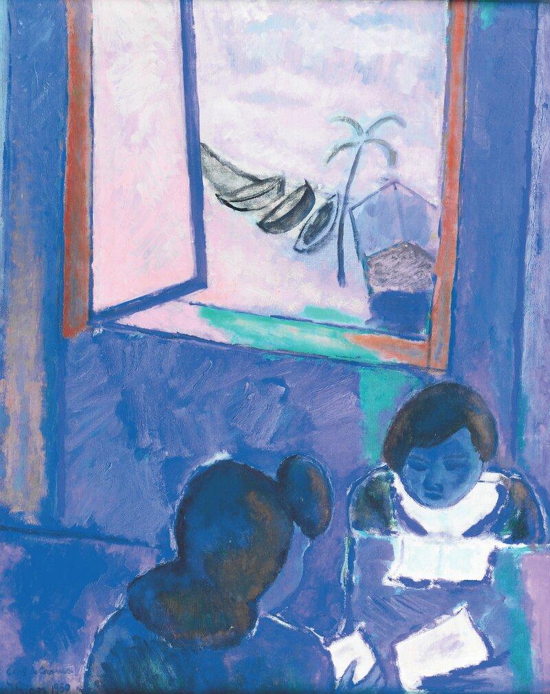 To kvinner i interiør 1950