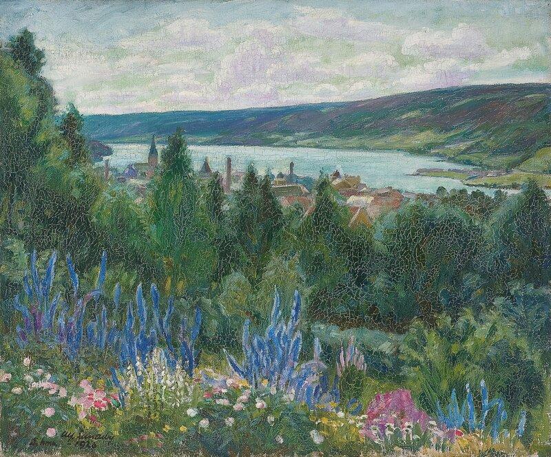 Utsikt over Lillehammer 1920