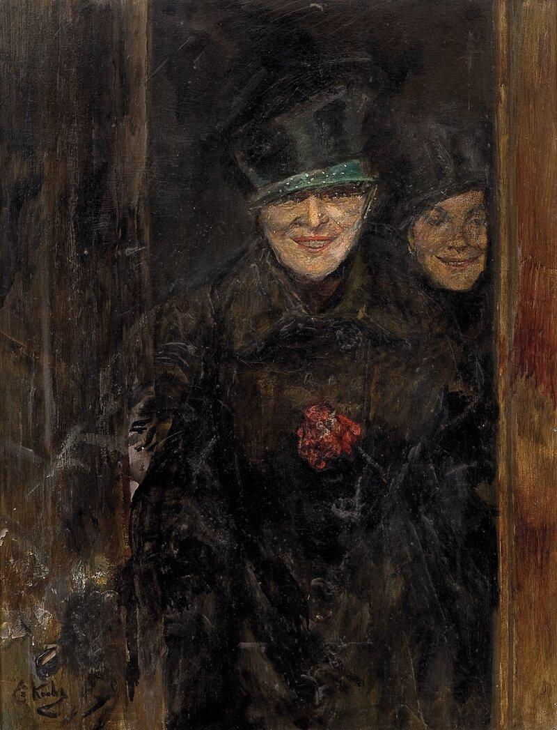 To kvinner i en døråpning
