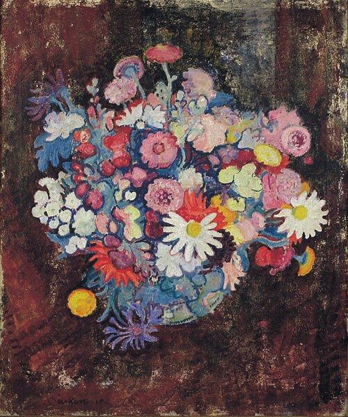 Oppstilling med blomster 1919