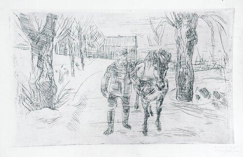 Mann med hest II