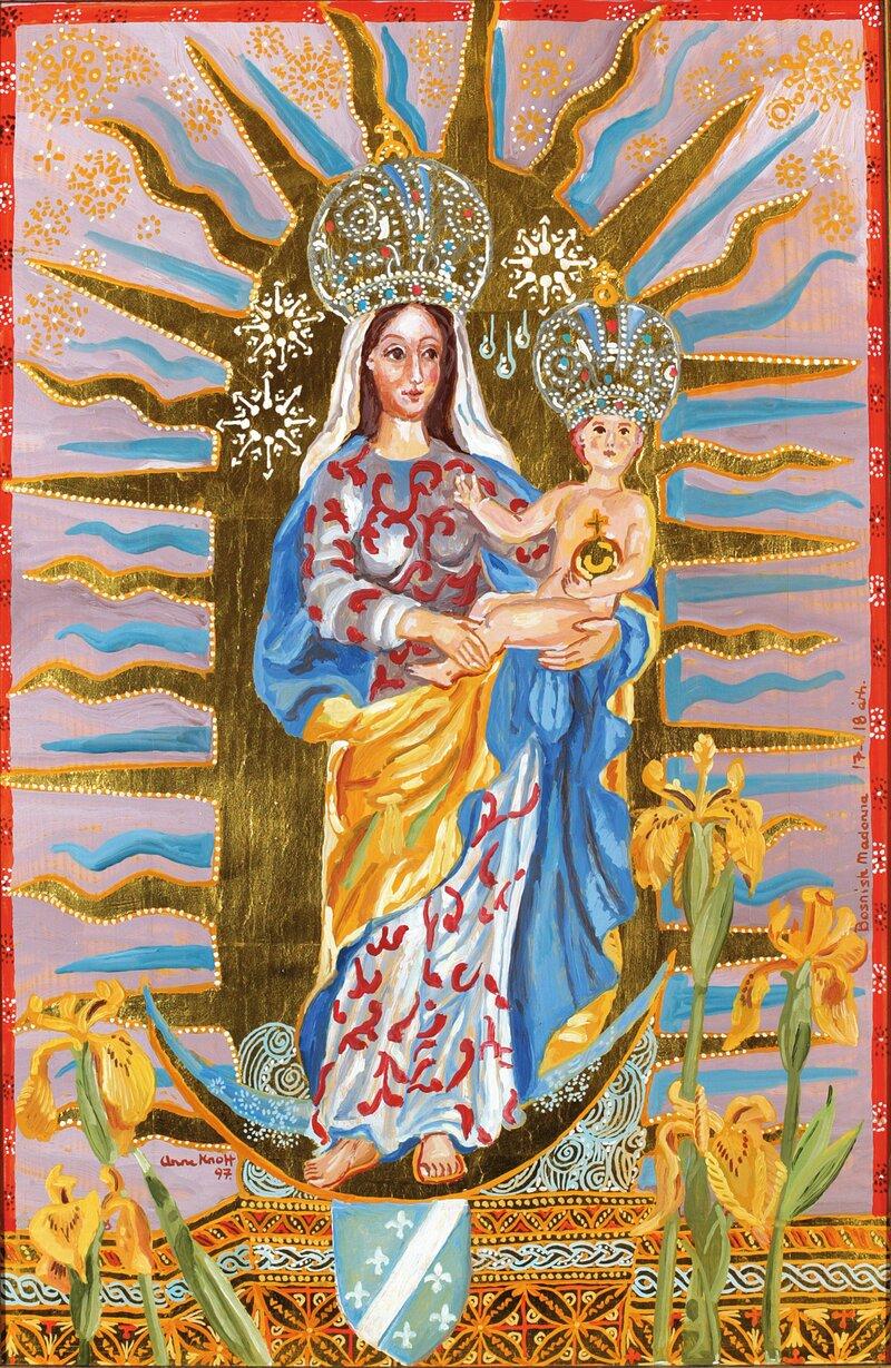 Bosnisk Madonna med Barnet 1997