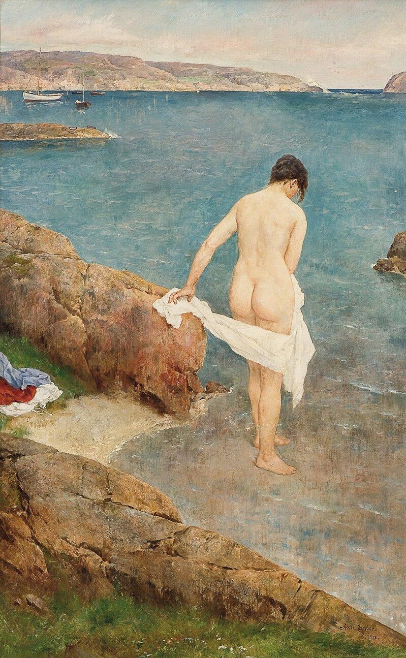Kvinne på strand 1918