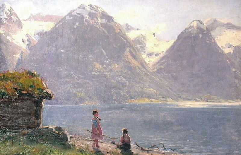 To småpiker ved Strynsvannet