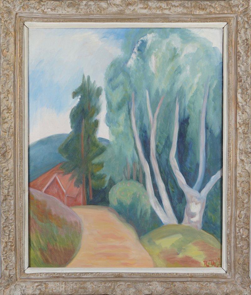 Sti, hus og trær 1939