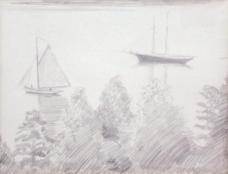 Seilbåter ved Lysaker