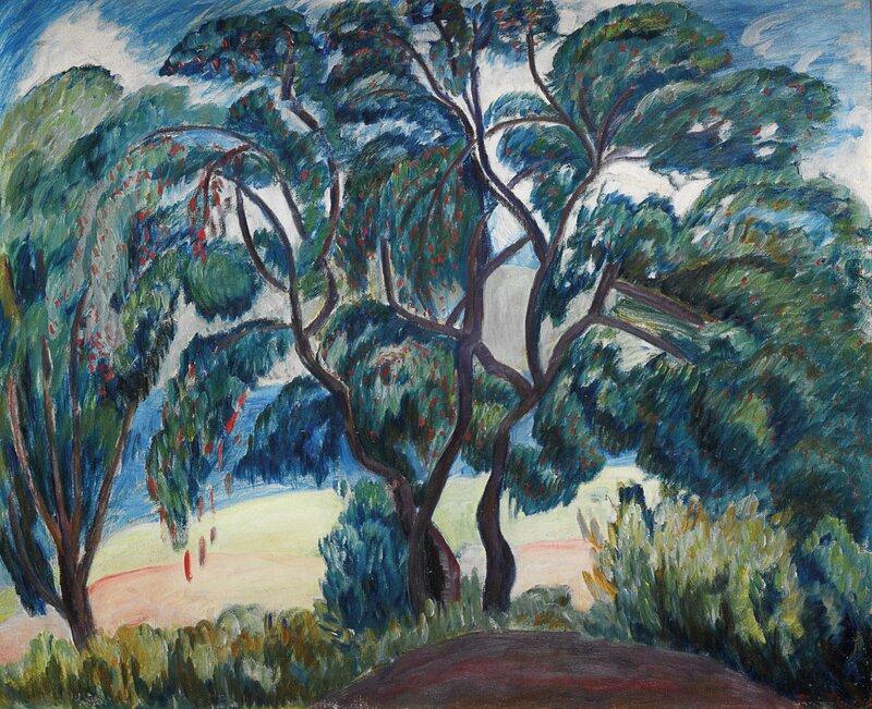 Trær og åkre 1930
