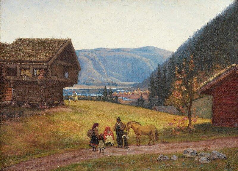 Ved Sandnesfjorden i Setesdalen 1883