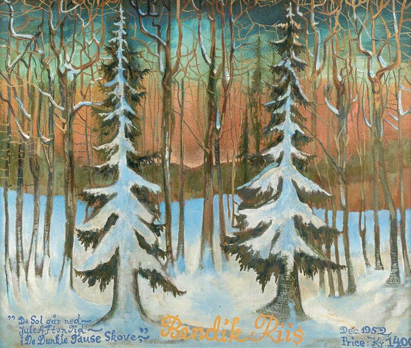 Vinteraften i de tause skove 1952
