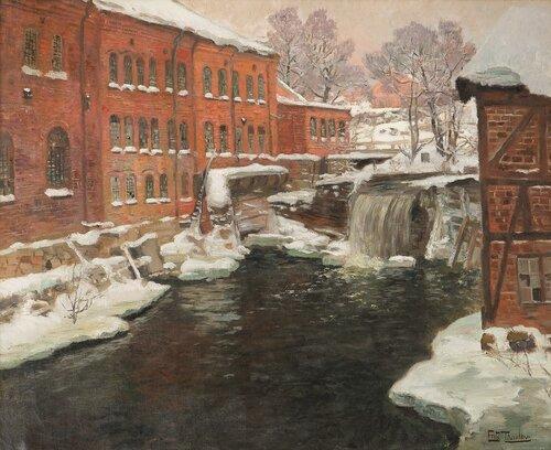 Fabrikker i sne, Akerselven