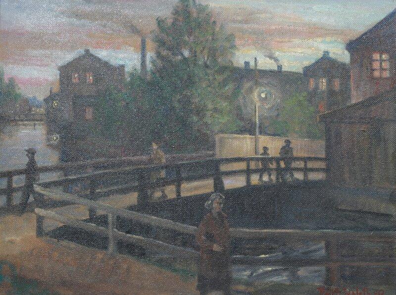 Mennesker på bro 1949