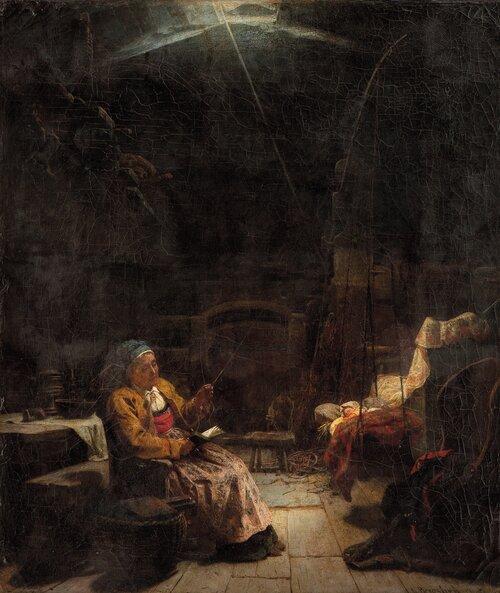Bestemor vugger et barnebarn 1862