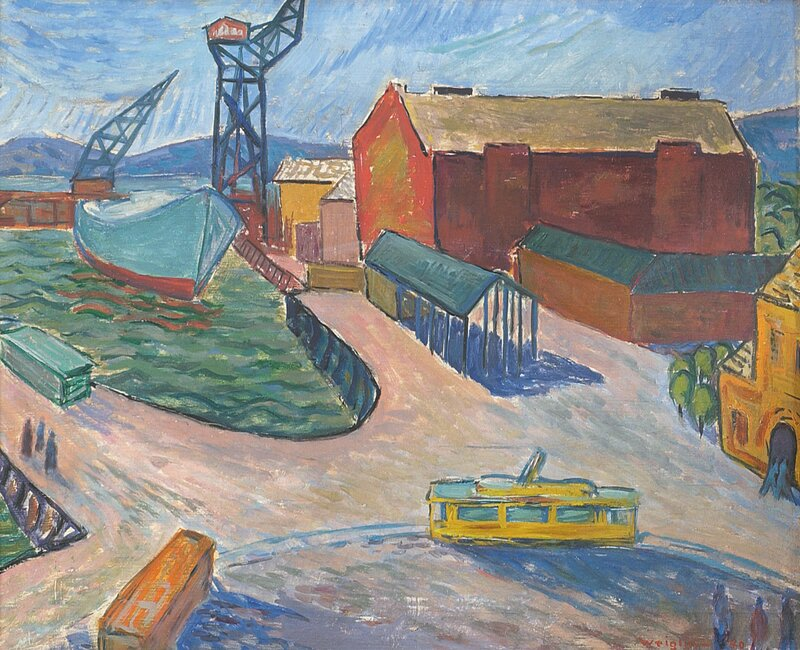 Fra gamle Aker Brygge 1940