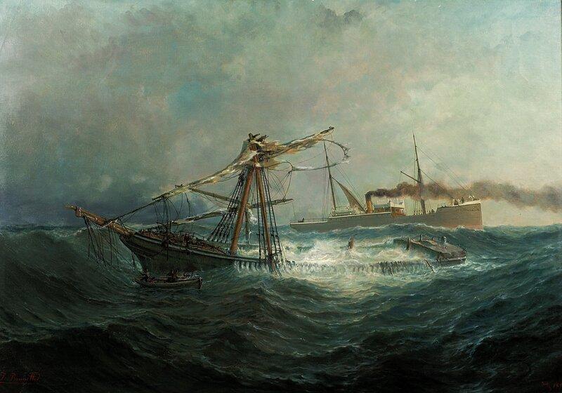 Dampskipet Dana ved et skibbrudd 1894