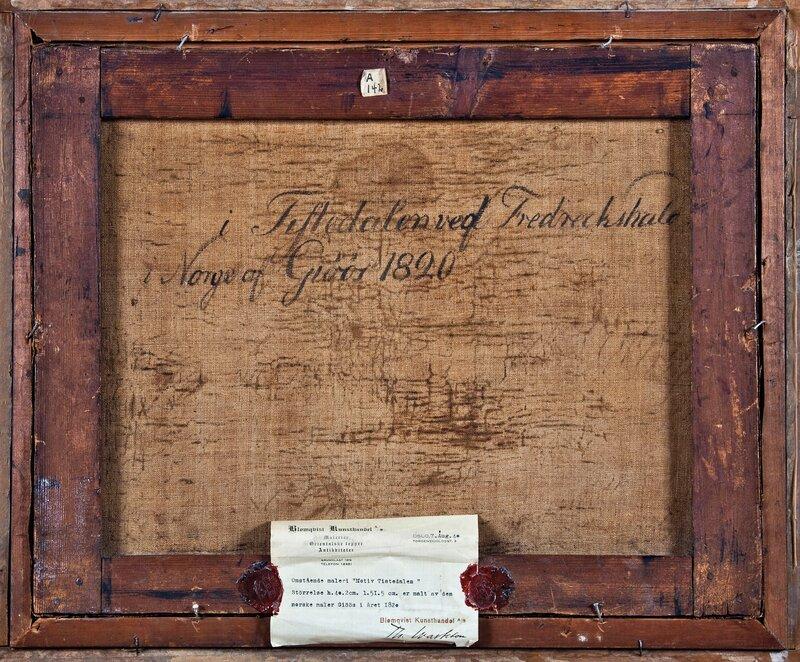 Løken sag, øvre demning i Tistedalen 1820