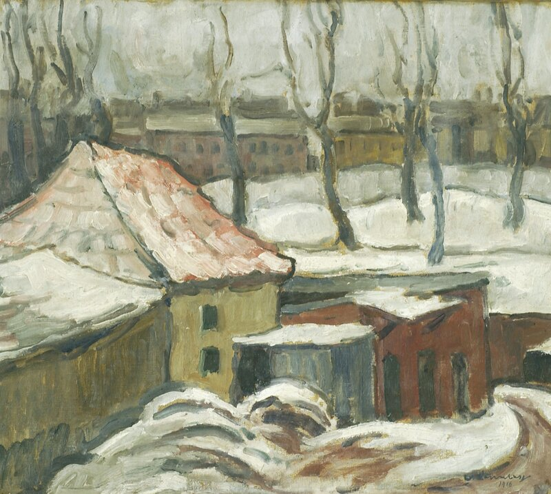 Bylandskap vinter 1916